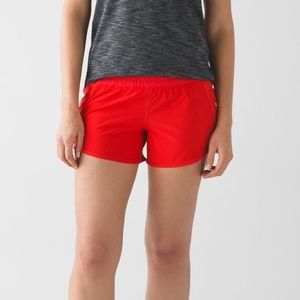 Lululemon red tracker shorts